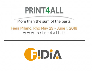 Print4All and Fidia Macchine Grafiche - Milan - 2018